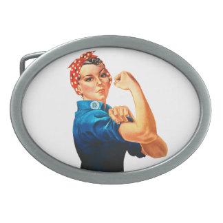 Hebilla Ovalada Rosie el poster del remachador WWII