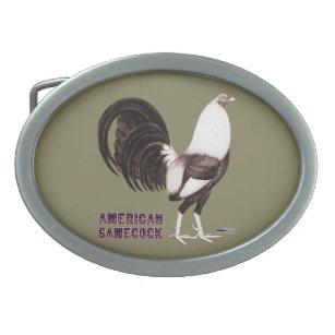 Hebilla Ovalada Sepia del gallo de pelea