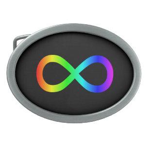 Hebilla Ovalada Símbolo del infinito del arco iris