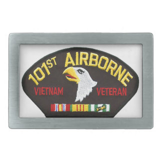 Hebilla Rectangular 101o Veterano aerotransportado de Vietnam