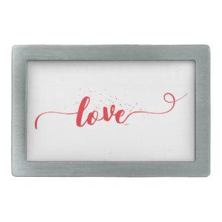 Hebilla Rectangular Amor-Tarjeta del día de san valentín-Remolinos