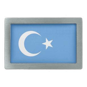 Hebilla Rectangular Bandera del este de Turkestan Uyghur