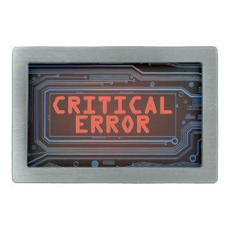 Hebilla Rectangular Concepto del error crítico