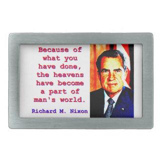 Hebilla Rectangular Debido a lo que usted ha hecho - Richard Nixon