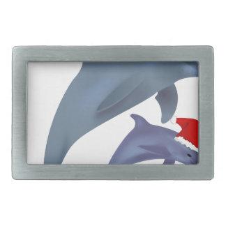 Hebilla Rectangular Delfín del navidad