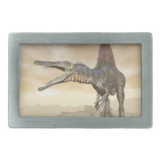 Hebilla Rectangular Dinosaurio de Spinosaurus en el desierto - 3D