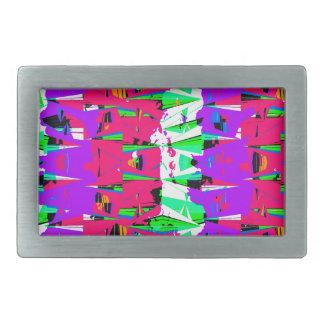 Hebilla Rectangular Diseño colorido del modelo de la interferencia
