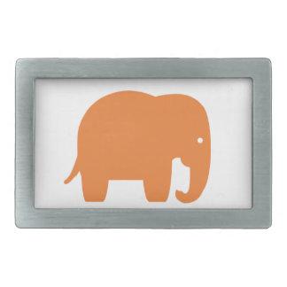 Hebilla Rectangular elefante anaranjado