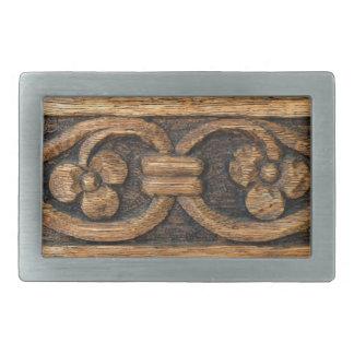 Hebilla Rectangular escultura de madera del panel