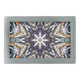 Hebilla Rectangular Estrella texturizada colorida