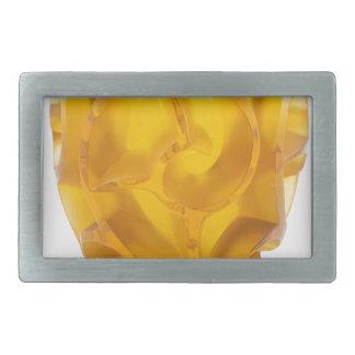 Hebilla Rectangular Florero amarillo del remolino del art déco