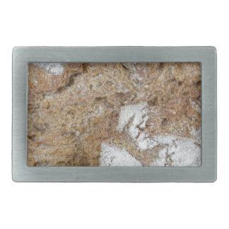 Hebilla Rectangular Foto macra de la superficie del pan marrón