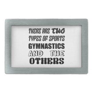 Hebilla Rectangular Hay dos tipos de gimnasia y de otra de los