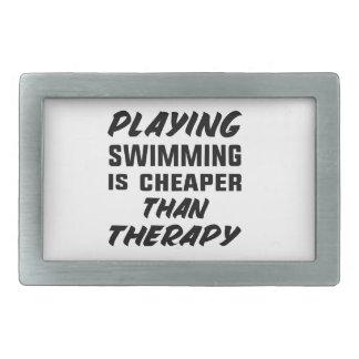 Hebilla Rectangular Jugar la natación es más barato que terapia