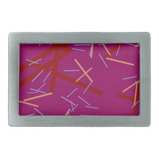 Hebilla Rectangular Línea púrpura colorida moderna modelo