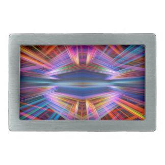 Hebilla Rectangular Modelo colorido de los haces luminosos