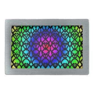 Hebilla Rectangular Modelo colorido del extracto del arco iris del