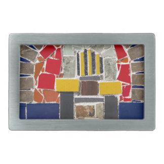 Hebilla Rectangular Mosaico