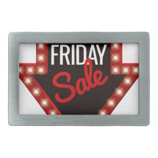 Hebilla Rectangular Muestra negra de la flecha de la venta de viernes