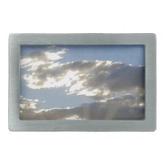 Hebilla Rectangular Nubes y Sun