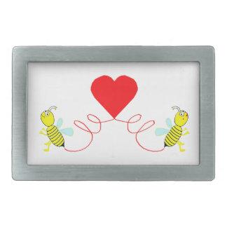 Hebilla Rectangular pares de abejas