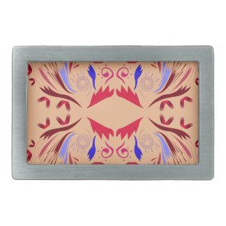 Hebilla Rectangular Rojo beige de los elementos del diseño