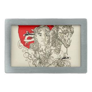 Hebilla Rectangular señora del dragón