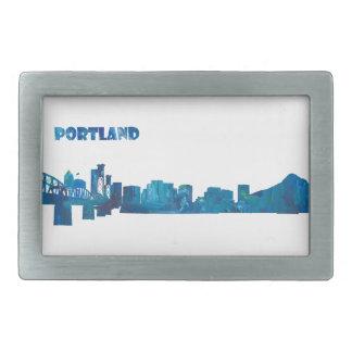 Hebilla Rectangular Silueta del horizonte de Portland