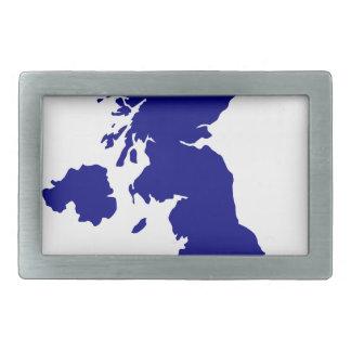Hebilla Rectangular U.K. y silueta de Irlanda del Norte