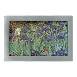 Hebilla Rectangular Van Gogh Irises, Bella Artes de Jardín Vintage
