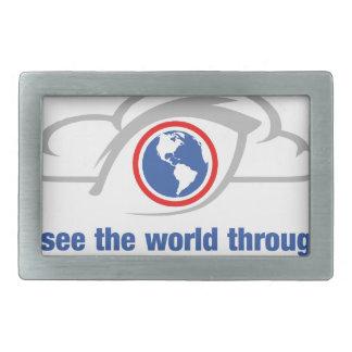 Hebilla Rectangular Veo el mundo a través de ojos sin restricción