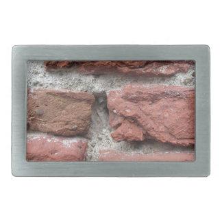 Hebilla Rectangular Viejo fondo de la pared de ladrillo