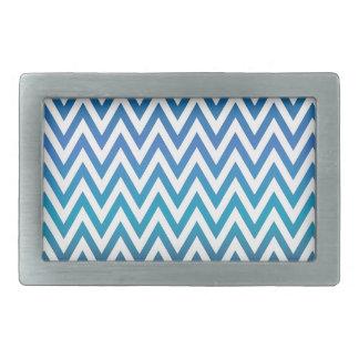 Hebilla Rectangular zigzag, colorido, divertido, azul y verde