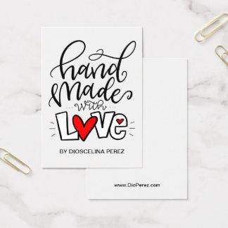 Hecho a mano con amor, tarjeta de visita