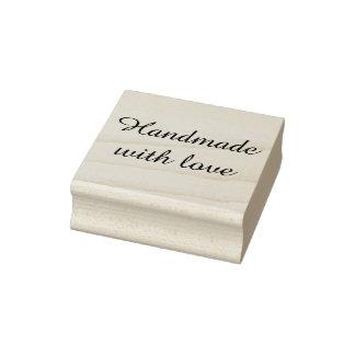 Hecho a mano con el sello de goma del amor