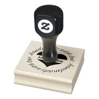 Hecho a mano personalizada con el sello de goma