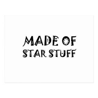 Hecho de la materia de la estrella postal