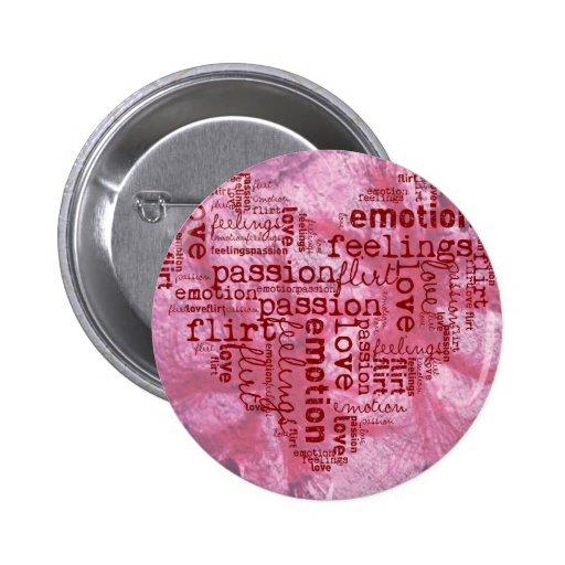 hecho de rosa de las palabras pin