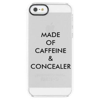HECHO DEL CAFEÍNA Y DE CONCEALER FUNDA TRANSPARENTE PARA iPhone SE/5/5s