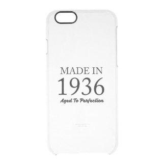 Hecho en 1936 funda transparente para iPhone 6/6s