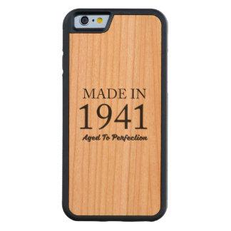 Hecho en 1941 funda protectora de cerezo para iPhone 6 de carved