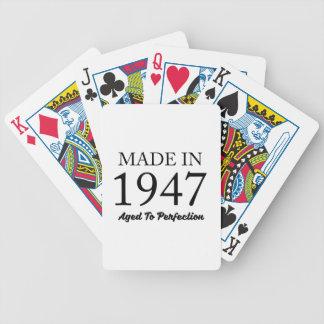 Hecho en 1947 baraja de cartas bicycle