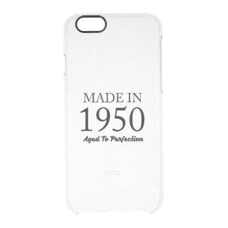 Hecho en 1950 funda transparente para iPhone 6/6s