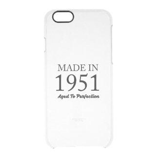 Hecho en 1951 funda transparente para iPhone 6/6s