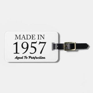 Hecho en 1957 etiqueta para maletas