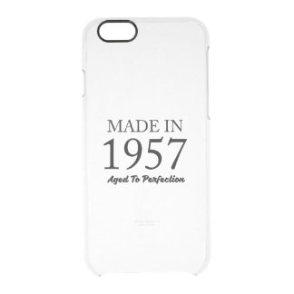 Hecho en 1957 funda transparente para iPhone 6/6s
