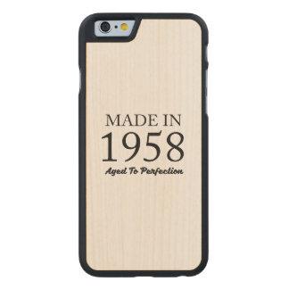 Hecho en 1958 funda de arce para iPhone 6 de carved