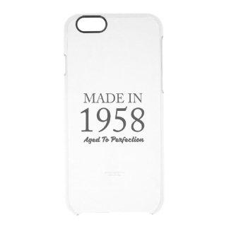 Hecho en 1958 funda transparente para iPhone 6/6s