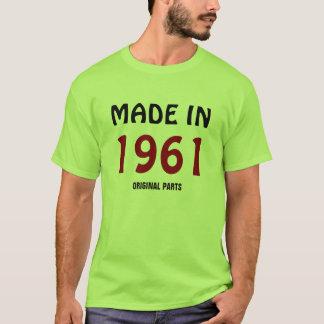 """""""Hecho en 1961, plantilla de la camiseta de las"""