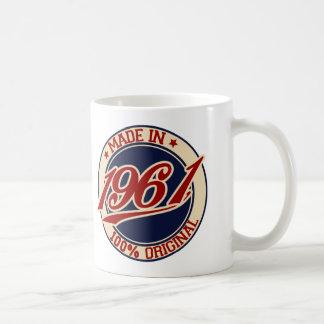 Hecho en 1961 taza de café